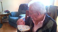 Great grandpa & newborn Keegan