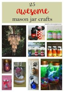 Here is a round up of 25 awesome mason jar crafts that go from functional to decorative to just plain fun to create! They are inexpensive and so versatile! Mason Jar Art, Mason Jar Gifts, Diy And Crafts, Crafts For Kids, Homemade Crafts, Crafts With Glass Jars, Coffee Jars, Coffee Jar Crafts, Mason Jar Projects