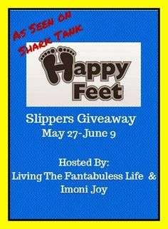 Happy Feet Slippers Giveaway!   Sweet N Sour Deals