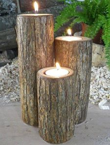 Great idea for citronella candles around your BBQ area.