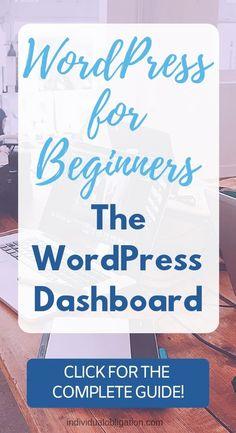WordPress Admin Dashboard - Everything You Need To Know - Wordpress Themes and Plugins Wordpress For Beginners, Learn Wordpress, Wordpress Admin, Blogging For Beginners, Wordpress Plugins, Wordpress Theme, Blogging Ideas, Blogging Niche, Wordpress Guide