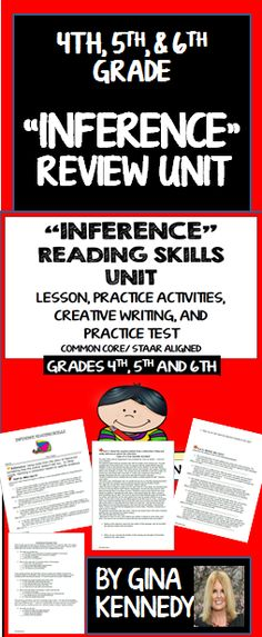 """A thorough review of the important reading text structure skill, inferencing text.. Excellent for introducing this skill, reviewing this skill or as an intervention tool. 100% Common Core and STAAR aligned.  Students will be given strategies to infer text effectively and practice inferring text in an activity called """"Who Am I?"""" Then they will learn strategies and complete exercises to infer character traits and other important....$"""