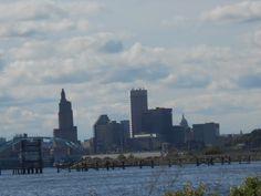 Providence, Rhode Island skyline as seen from the East Bay Bike Path #RhodeIsland #skyline