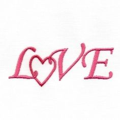 Love Word - 2 Sizes! | Valentine's Day | Machine Embroidery Designs | SWAKembroidery.com Too Cute Embroidery