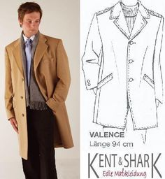 """Kent + Shark Wollmantel """"Valence"""" nach Maß"""