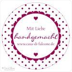 Personalisierte Stempel Aufkleber Prägezangen Geschenkverpackungen von Casa di Falcone -