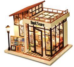 Diy Miniature Dollhouse, Dollhouse Kits, Wooden Dollhouse, Miniature Dolls, Dollhouse Miniatures, Miniature Houses, Victorian Dollhouse, Mini Houses, Paris Coffee