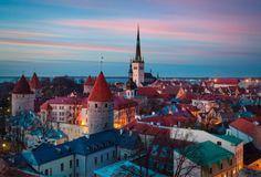 Tallin, Estonia in the dusk