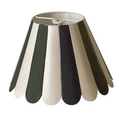 Black white stripe scallop edged tole lamp shade let there be black scallop chandelier shade aloadofball Images