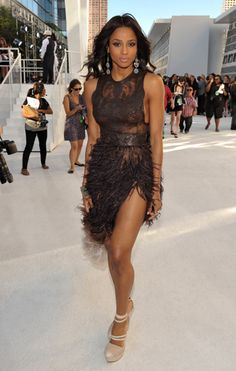 Ciara on the red carpet at the 2010 MTV Video Music Awards in Los Angeles.