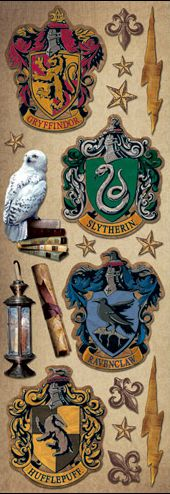 £0.99 Crests Harry Potter cardstock stickers www.scrappingthemagic.co.uk great for all your Harry Potter Studio Tour or Wizarding World of Harry Potter Scrapbooking Layouts