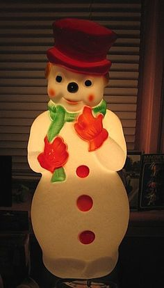 Snowman Blowmold...... (i love these things, and have a whole collection for different seasons...)