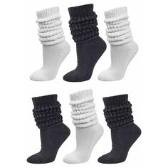 Shop a great selection of Black & White All Cotton Extra Heavy Super Slouch Socks. Find new offer and Similar products for Black & White All Cotton Extra Heavy Super Slouch Socks. Slouch Socks, Boot Socks, Winter Socks, Warm Socks, Black And White Socks, Black White, Slipper Socks, Winter Outfits Women, 6 Packs