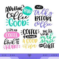 Sarcastic Coffee Quote SVG Files - Mug Wraps Only