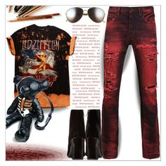 """""""Band T-shirts"""" by dragananovcic ❤ liked on Polyvore featuring PRPS, Yves Saint Laurent, Current Mood, Burberry, shirt, polyvorecommunity, polyvoreeditorial and polyvorefashion"""