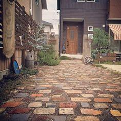 Entrance,アプローチ,アンティークレンガ,ジャンクガーデン,お庭,手作りの庭 yuuu9の部屋