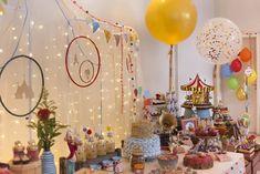 decoração festa circo vintage