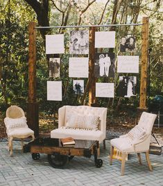 For an easy conversation starter, create a wall of family wedding photos. Devote a row to his family, one to yours, or just mix them all up. Alternative idea: Showcase your (new!) family tree. loveee this idea for cocktail hour/when people are waiting for the ceremony to start. not sure where i'd put it ceremony wise, but by the bar would prob work for the reception