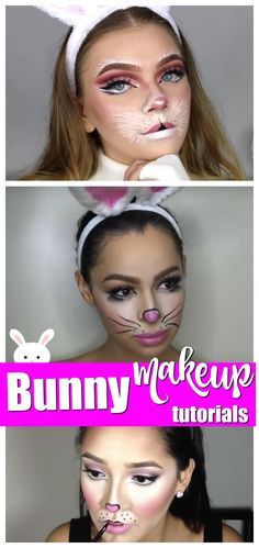 Bunny Makeup Tutorials #easter #halloween #makeup #bunny #tutorial
