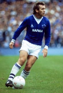 Everton FA Cup Winner midfielder Peter Reid