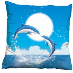 A Pair of Dolphin Fall in Love 3D Stamped Cross Stitch Cushion [seems only the dolphins need stitching] XSTITCHBUY http://www.amazon.co.uk/dp/B00FU5WH1K/ref=cm_sw_r_pi_dp_NaYAwb0CN5XSV