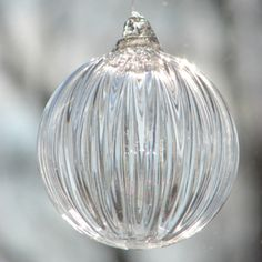 """Hand Blown Glass Ornament"" Had a beautiful one with my engagement ring inside it on a hook ""Christmas Day 1994."" So romantic, with love from my Bill:)"