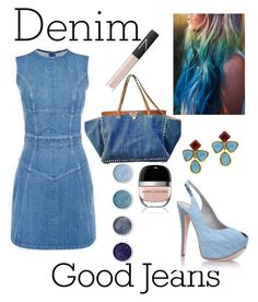 """Good Jeans♡"" by ahumadarosy ❤ liked on Polyvore featuring Gina, Chanel, Terre Mère, NARS Cosmetics, Marc Jacobs and Denimondenim"