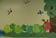 Collaborative Very Hungry Caterpillar bulletin board