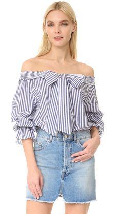 Stripe Off Shoulder Blouse