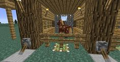 Small easy to build and doesn't need a lot of materials. View map now! The Minecraft Map, Horse Stable, was posted by Minecraft Blueprints, Minecraft Projects, Minecraft Ideas, Minecraft Buildings, Minecraft Horse Stables, Amazing Minecraft, View Map, Cute Cats, Horses