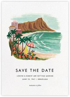 Destination: Beach  - Paperless Post - Hawaii Save the Date