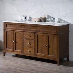 Stufurhome 60 Inch Malibu Grey Double Sink Bathroom Vanity With Mirror,  Gray | Grau, Badezimmer Waschtische Und Badezimmer