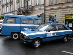Police cars during communism. Good Old Times, The Good Old Days, Poland People, Old Police Cars, Emergency Vehicles, Police Vehicles, Police Uniforms, My Childhood Memories, My Heritage