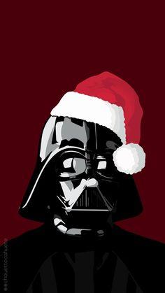 Image via We Heart It #background #christmas #darthvader #iphone #starwars #wallpaper