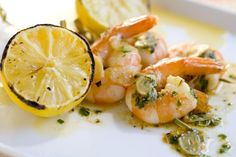 This garlic shrimp recipe is named for Gilroy, California, known as the garlic capital of the world. This classic and delicious garlic shrimp recipe is named for Gilroy, California, known as the garlic capital of the world. Garlic Recipes, Shrimp Recipes, Fish Recipes, Great Recipes, Dinner Recipes, Favorite Recipes, Dinner Ideas, Calamari Recipes, Dinner Entrees