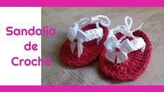 Sandalia de croche para bebe