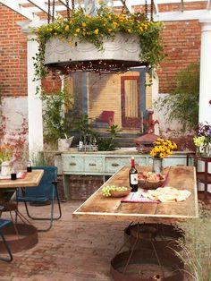 Deko und Gartenideen rustikal deko tisch massivholz kronleuchter