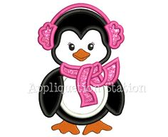 Hey, I found this really awesome Etsy listing at https://www.etsy.com/listing/114554018/cute-penguin-girl-with-earmuffs-applique