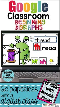 Google Classroom Learning digraphs and applying that knowledge to reading and spelling words, help build fluent readers. This digital resource for Google Classroom is perfect for literacy centers. Use it to reinforce guided reading or in an intervention group. Each slide is self-checking. When the kids move the digraph it will reveal if they are correct. They get extra practice typing the word.  This includes the following digraphs ch, sh, kn, th, wr, wh Kindergarten Classroom, Classroom Activities, Learning Activities, Kindergarten Readiness, Learning Quotes, Kindergarten Writing, Interactive Activities, Education Quotes, Classroom Organization