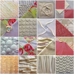 All 41 textures belong to two textured quilts I made: Textured quilt sampler (25 textured blocks) Textured 4 patch quilt (16 textured blocks) Tutorials Texture 1: Twisted pleats Texture 2: Waves Te...