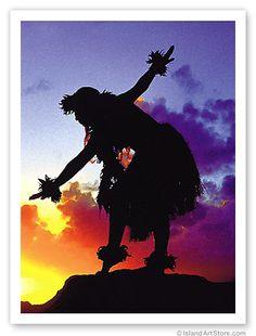 Island dancer at sunset, Hawaii. hawaiianforyou.com