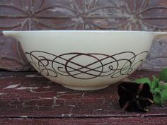 Vintage Pyrex 1959 Cinderella Bowl Gold on by used2bnewVintage