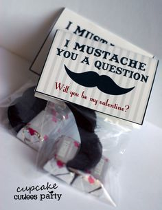 Candy-free valentine: I mustache you a question