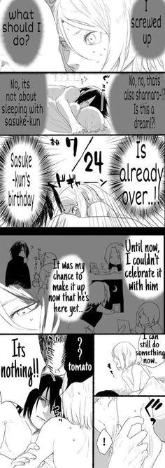 Sasuke's Birthday 1/4
