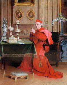 A Church Legacy by Belgian Painter Georges Croegaert 1848-1923