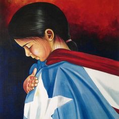 I am an Arawak Indian from the Caribbean Island of Puerto Rico.  Proud of the colors of my flag and what they signify to our people.
