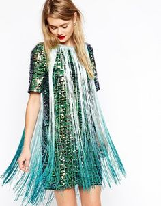 Enlarge ASOS T-shirt Sequin Fringe Dress