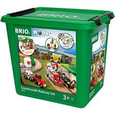 Brio 33155 BRIO Bahn Großes Landschafts-Set, Jubiläumsbox, 75 Teile