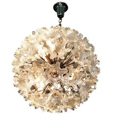 1960's Glass Flowers  Ceiling Light   From a unique collection of antique and modern chandeliers and pendants  at http://www.1stdibs.com/furniture/lighting/chandeliers-pendant-lights/