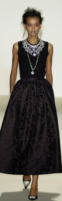 The dress... the jewels... the hair... angelic.  Love!!  -OSCAR de la RENTA 2014